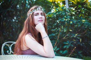 Elisa, séance photo au Jardin des serres d'Auteuil